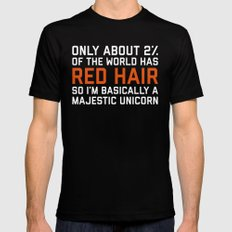 Red Hair Funny Quote Black Mens Fitted Tee SMALL