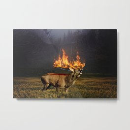 Natures Agony Metal Print