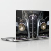 bmw Laptop & iPad Skins featuring Old BMW by Cozmic Photos