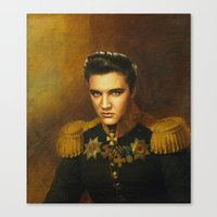 replaceface Canvas Prints featuring Elvis Presley - replaceface by replaceface