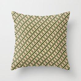 Batik Parang Green Pattern Throw Pillow