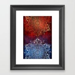 Mandala - Fire & Ice Framed Art Print