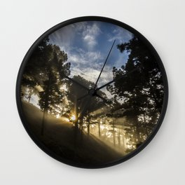 Forest sun Wall Clock