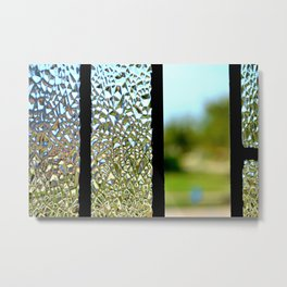 Glass Panes Metal Print