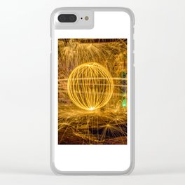RUINED - Light Painting Clear iPhone Case