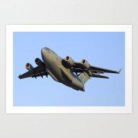 C-17 Globemaster Aviation USAF Take Off Art Print