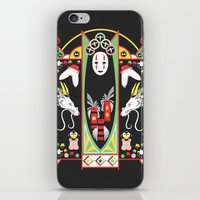 deco iPhone & iPod Skins featuring Spirited Deco by Ashley Hay