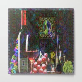 """""""More Wine"""" by surrealpete Metal Print"""