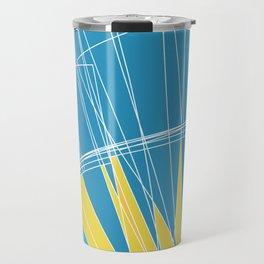 Abstract pattern, digital sunrise illustration Travel Mug