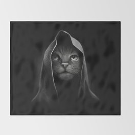 Cat portrait Throw Blanket