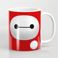 baymax Mugs featuring Baymax by Mad Corvus