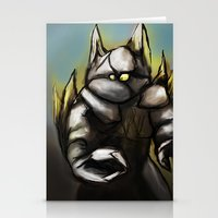 rocky Stationery Cards featuring Rocky by Wesley S Abney