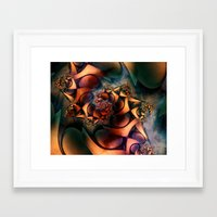 heroes of olympus Framed Art Prints featuring Olympus by Nick Arte