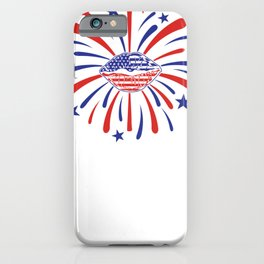 4th of July Fireworks American Lips Fourth of July iPhone Case