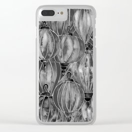 Black Vietnamese Lanterns Clear iPhone Case