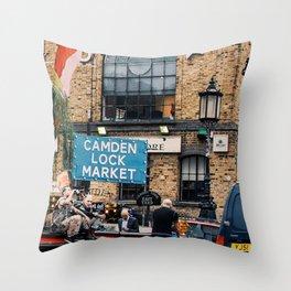 Camden Lock Punk Throw Pillow