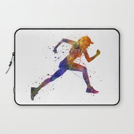 Woman runner jogger running Laptop Sleeve