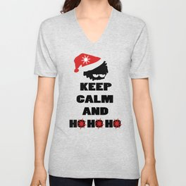 Keep calm and ho ho ho Unisex V-Neck