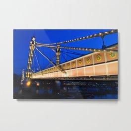 Albert Bridge River Thames London Metal Print