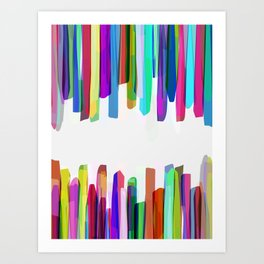 Colorful Stripes 3 Art Print