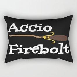 Accio Firebolt! - black Rectangular Pillow
