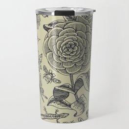 Garden Bliss - vintage floral illustrations  Travel Mug