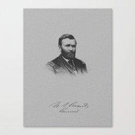 General Ulysses S. Grant And His Signature Canvas Print