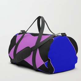 Abstract Purple Blue Pink Black Church Window Duffle Bag