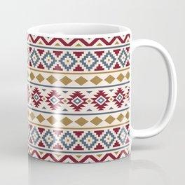 Aztec Essence Ptn III Red Blue Gold Cream Coffee Mug