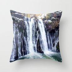 Burney Falls Throw Pillow