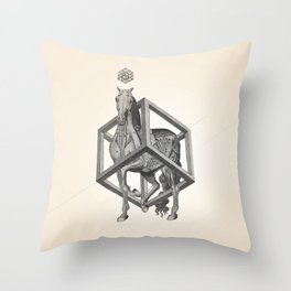 Caged Horse Throw Pillow