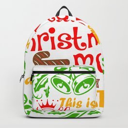 This Is My Hallemark Christmas Movie Watch Shirt Backpack