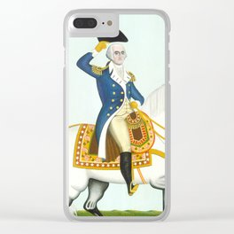 General Washington on a White Charger, 1835 Clear iPhone Case