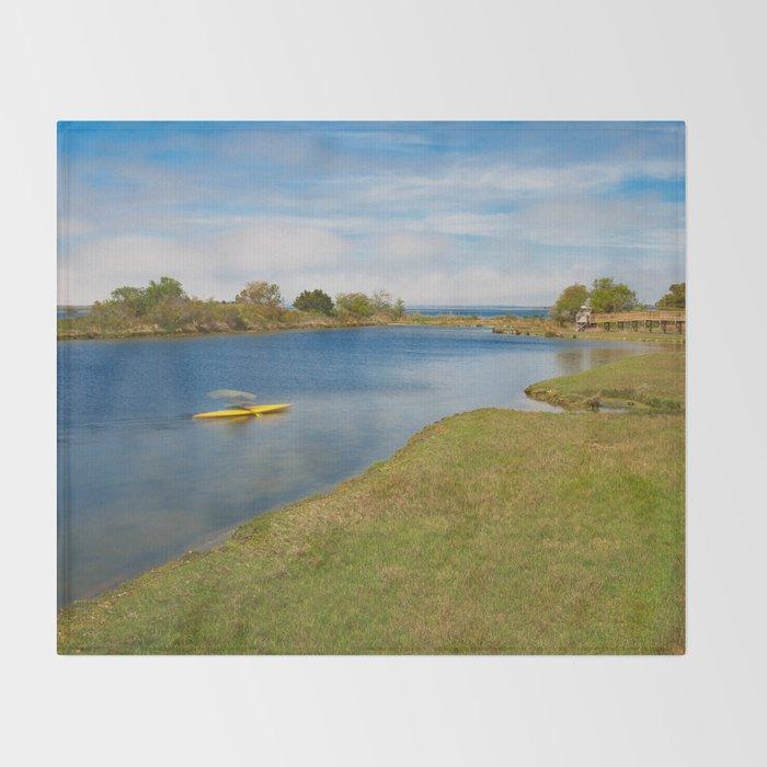 Assateague Island Marsh Throw Blanket