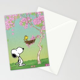 Woodstock in the Cherry Blossoms Posters Stationery Cards