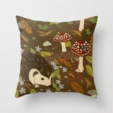 Woodland critters (sepia tone) Throw Pillow