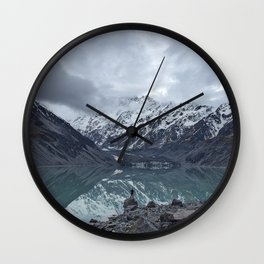 snow capped Wall Clock
