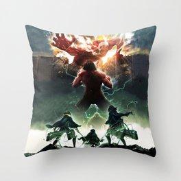 Attack on titan  Shingeki no kyojin 進撃の巨人 Classic T-Shirt 14011 Throw Pillow