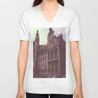 germany V-neck T-shirts featuring Germany by Jiesha  Stephens