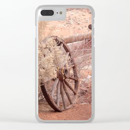 Old Western Wheel Clear iPhone Case