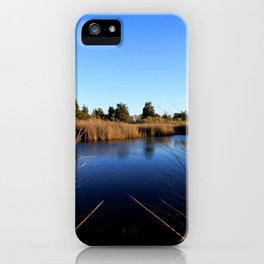 Watercolor Landscape, Janes Island 03, Maryland iPhone Case
