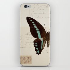 blue spotted butterfly iPhone & iPod Skin