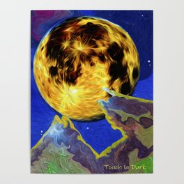 Full Moon on an Alien Horizon. Poster
