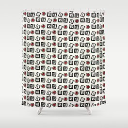 Pattern of ... LOVE Shower Curtain