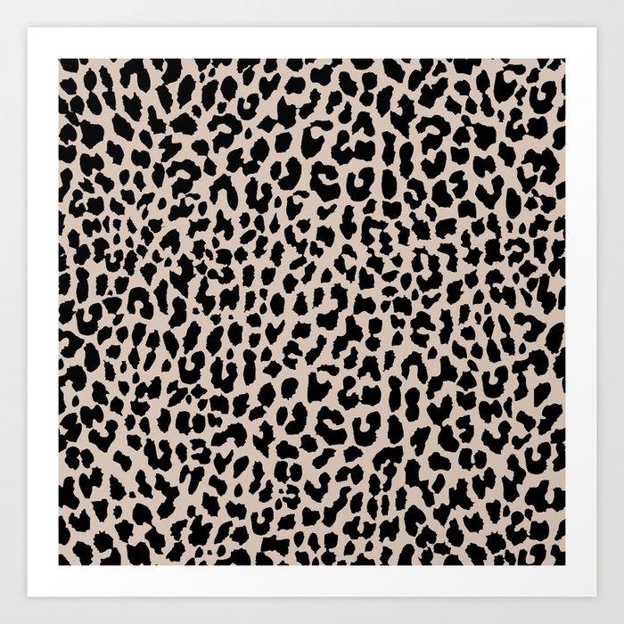 Tan Leopard Kunstdrucke
