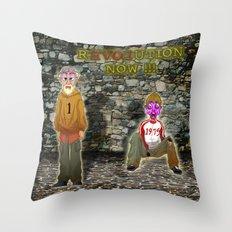 rEVOLution now Throw Pillow