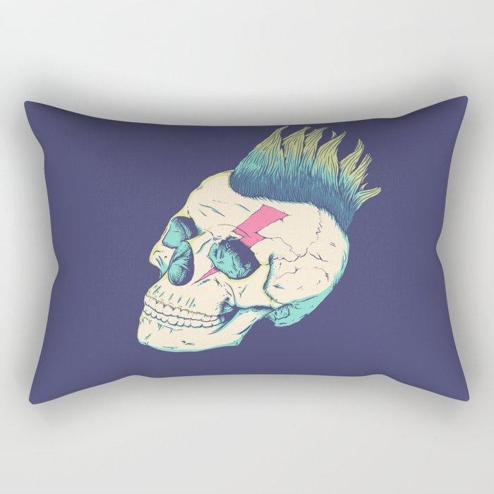 Skull Punk Rectangular Pillow