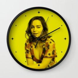 Emilia Clarke - Celebrity (Florescent Color Technique) Wall Clock