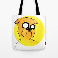 jake Tote Bags featuring Jake by Shay Bromund