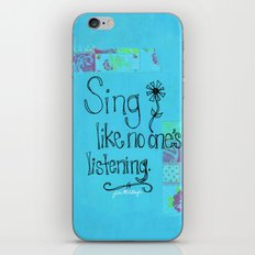 Sing iPhone & iPod Skin